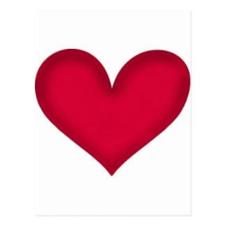 heart design postcard