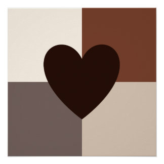 Heart Design Warm Colors Perfect Poster