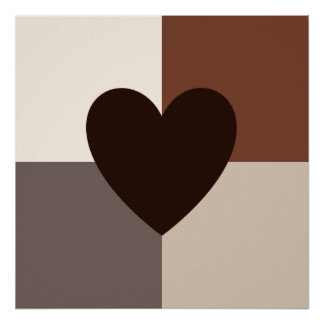 Heart Design Warm Colors Poster