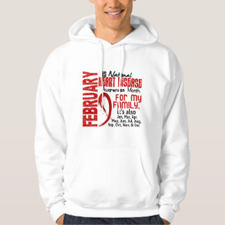 Heart Disease Awareness Month For My Family Hoodie