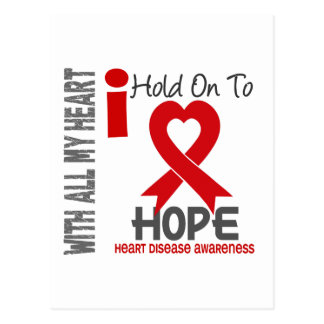 Heart Disease I Hold On To Hope Postcard