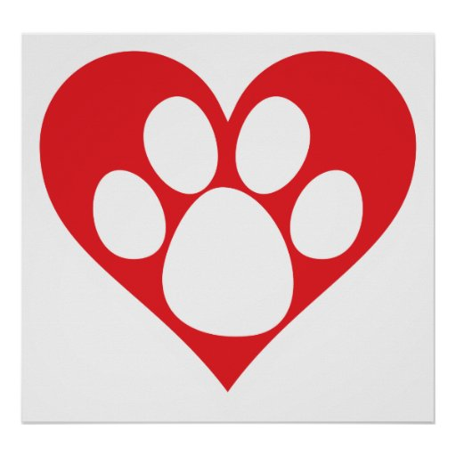 Heart Dog Paw Zazzle