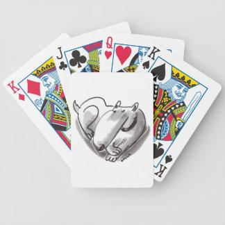 heart dog transparent poker deck