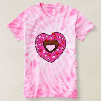Heart Donut Pink Love Sprinkles Valentines Day Art T-shirt