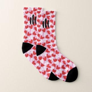 Heart Doodles custom monogram socks