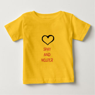 heart drawing logo, SPAY AND NEUTER Baby T-Shirt