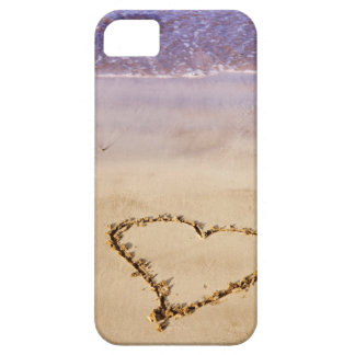 Heart Drawn in the Sand at the Beach iPhone 5 Case