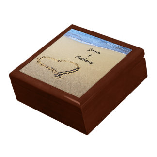 Heart Drawn in the Sand template Jewelry Boxes