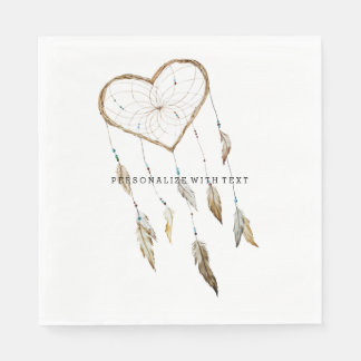 Heart Dream Catcher Disposable Napkin