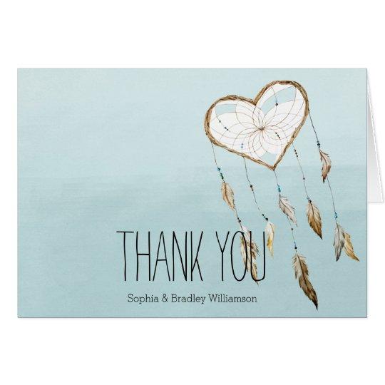 Heart Dream Catcher Thank you Card