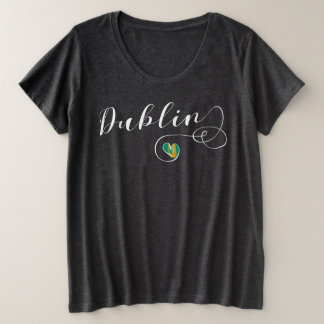 Heart Dublin T-Shirt, Ireland, Irish Plus Size T-Shirt