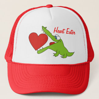 Heart Eater Funny Crocodile Hat