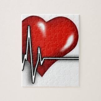 Heart ECG Jigsaw Puzzle