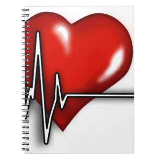 Heart ECG Spiral Notebook