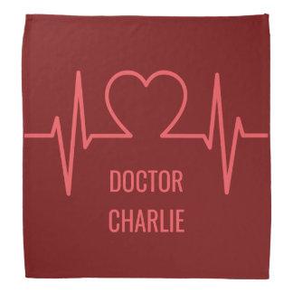 Heart EKG custom name & occupation bandana
