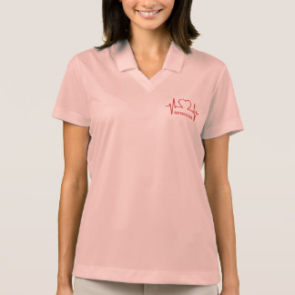 Heart EKG custom name & occupation clothing Polo Shirt
