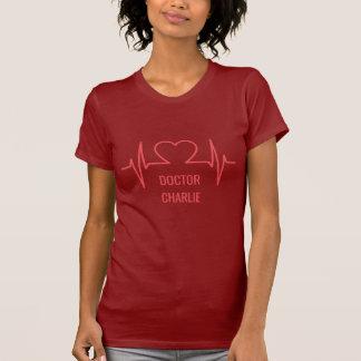 Heart EKG custom name & occupation clothing T-Shirt