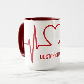 Heart EKG custom name & occupation mugs