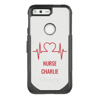 Heart EKG custom name & occupation phone cases