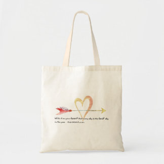 Heart Emerson Quote Tote Bag
