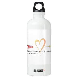 Heart Emerson Quote Water Bottle