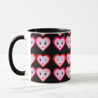 Heart Emoji Emoticons Fashion Mug