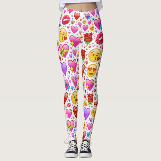 heart emoji leggings