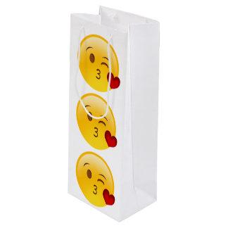 Heart Emoji Wine Gift Bag