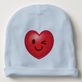 Heart Emoji Winking Baby Beanie