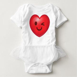 Heart Emoji Winking Baby Bodysuit