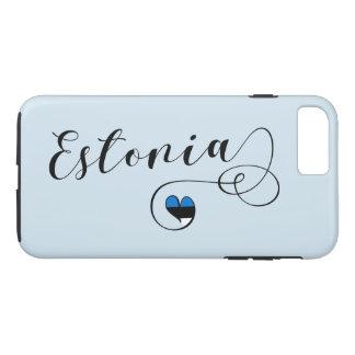 Heart Estonia Mobile Phone Case, Estonian iPhone 8 Plus/7 Plus Case