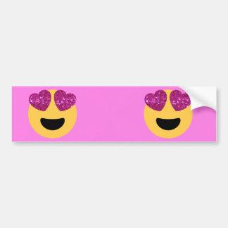 heart eye emoji bumper sticker