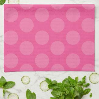 Heart Eyes Emoji Polka Dots Kitchen Towel