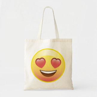 Heart Eyes Happy Love Emoji Tote Bag