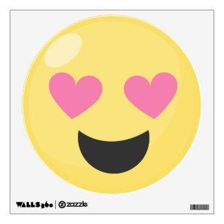Heart Eyes Love Emoji Wall Decal