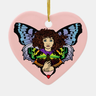 Heart Faerie Ceramic Heart Ornament