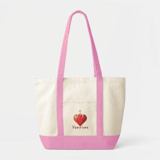 Heart Fangs: I Love Vampires Tote Bag