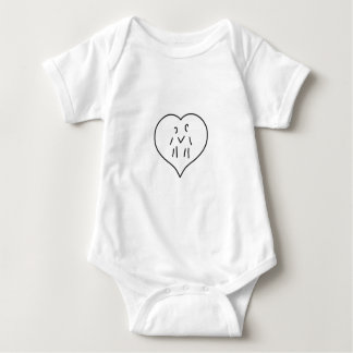 heart few two persons tee shirts