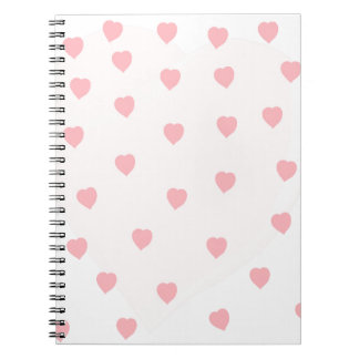 Heart Filled Background Notebooks