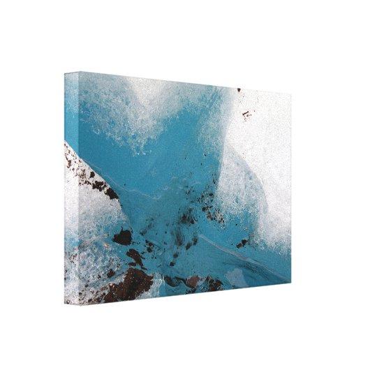 Heart-Filled Glacier Canvas Print