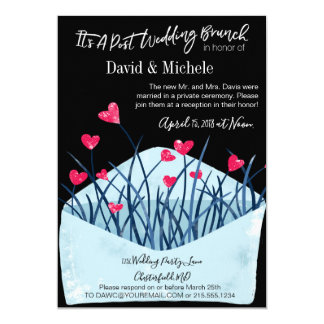 Heart Filled Invitation Wedding Brunch Party