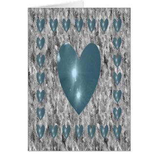 Heart filled sky card