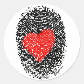 Heart Fingerprint Love Sticker