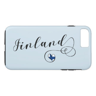Heart Finland Mobile Phone Case, Finnish iPhone 8 Plus/7 Plus Case
