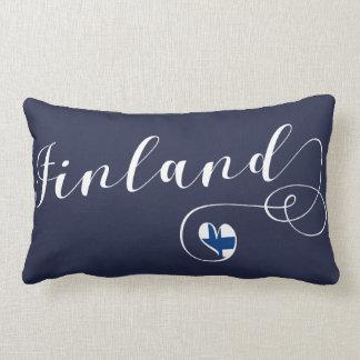 Heart Finland Pillow, Finnish, Finn Lumbar Pillow