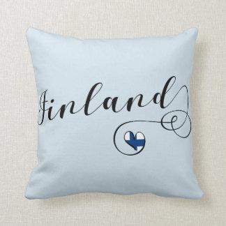 Heart Finland Pillow, Finnish, Finn Throw Pillow