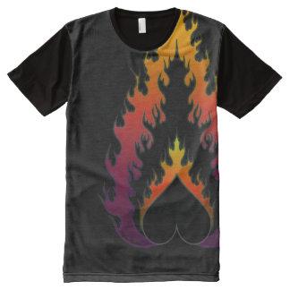 Heart Fire : Neon Black : Men's T-Shirt