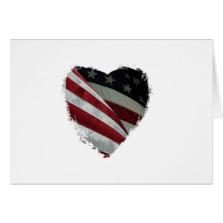 heart flag card