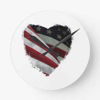 heart flag clock
