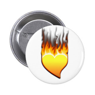 Heart flame design I 2 Inch Round Button